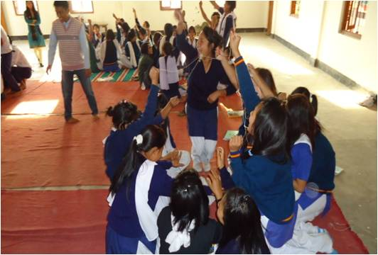 Game Session in Personality Development Camp