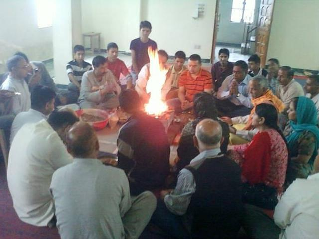 Havan at VK Shimla on Guru Purnima day