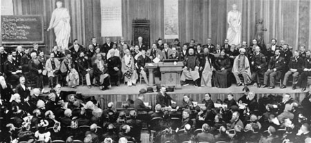swamiji Chicago, September 1893 (scene at one of the Sessions of the Parliament of Religions)