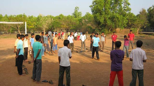 Boy in the Games during Vijay Poorna Vijay program at Brahmavar, Karnataka