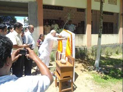 Foundation Stone Laid For New School Building At Ramnagar (Silchar)