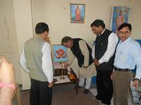 Chief Guest Sri Suresh Bharadwaj, M.L.A., Shimla(Urban) lighting lamp