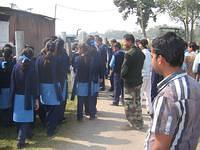 Students of VKV Nalbari Vists Army Campus at Rangiya