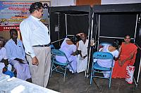 Eye checking at free eye camp