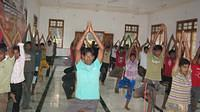 Yoga practice in 1 Day Youth Leadership camp at Vamadapadavu